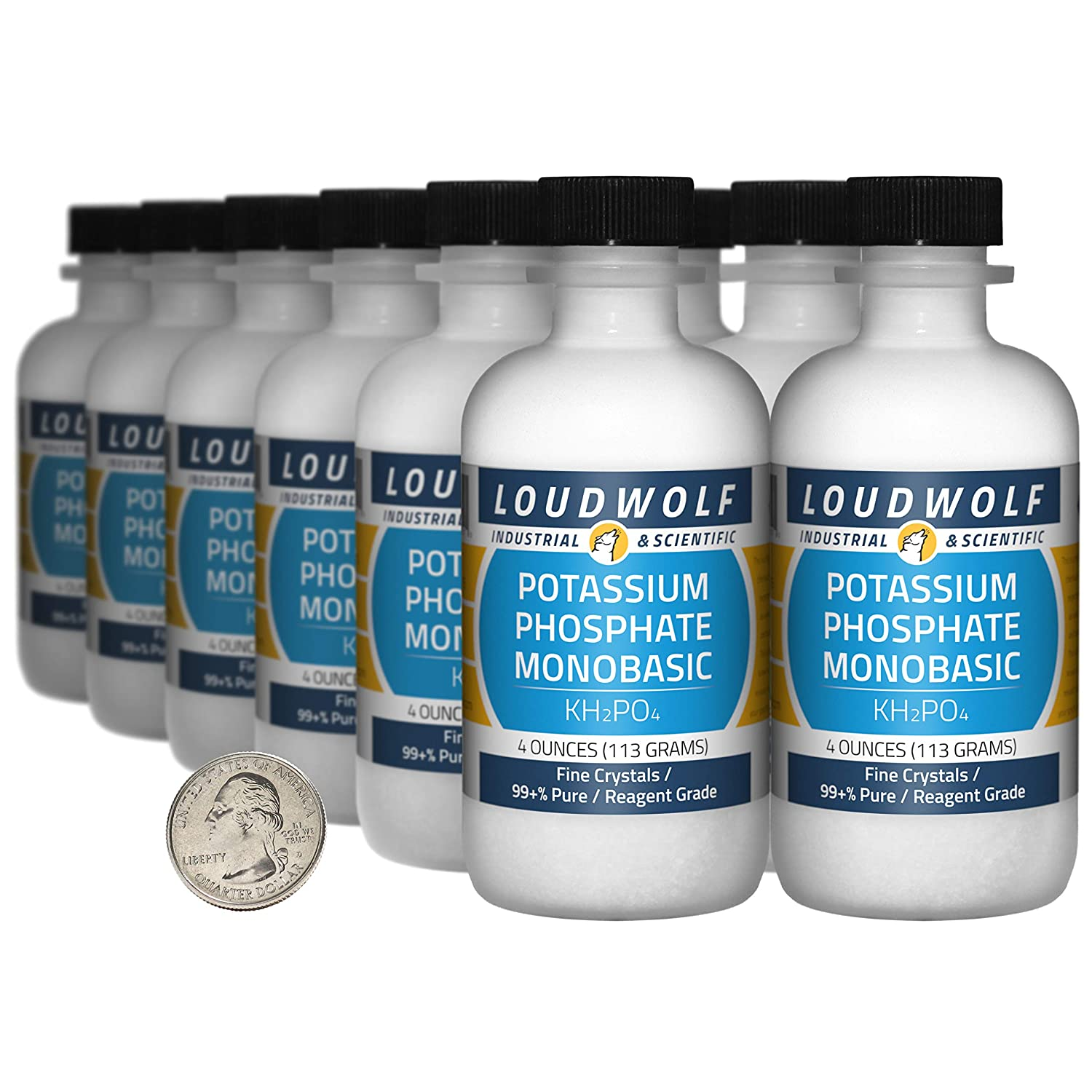 Potassium Phosphate Monobasic 3 Pounds Pur 12 99+% Bottles Fixed price Gorgeous for sale