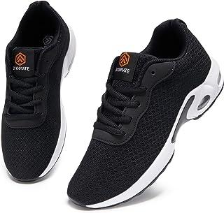 DYKHMATE Chaussures de Sport Femme Coussin d'air Baskets Legere Fitness Sport Sneakers Multicolore Respirante
