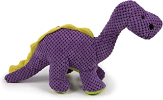 goDog Dinos Bruto Checkers with Chew Guard Technology Plush Dog Toy, Large, Purple