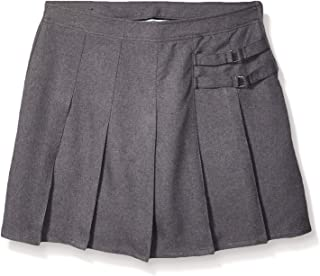 French Toast Girls Two-Tab Pleated Scooter Skirt Black 42P