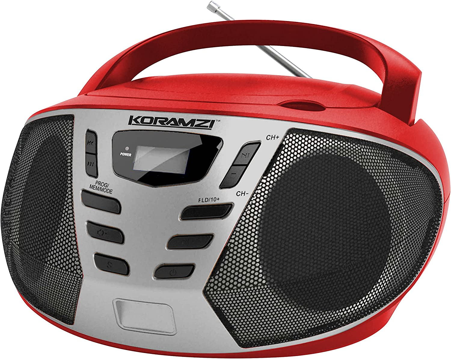KORAMZI Portable CD Boombox Popular brand w AM FM Loading Radio IN Top Chicago Mall AUX