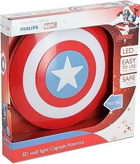 Philips Capitán América Iluminación infantil LED integrado, con sensor de movimiento, Multicolor, 4.0 x 27.0 x 27.0 cm