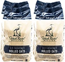 Great River Milling, Old Fashioned Rolled Oats, Non-Organic, 32 Ounces (Pack of 4)