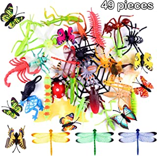 comprar comparacion TUPARKA 49 PCS Plastic Insect Toys Bugs Figure Toys Surtido de Insectos realistas Butterfly Beetle Dragonfly Modelo Gag Ju...