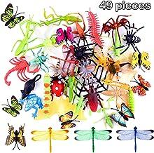 TUPARKA Tupaca,49 Juguetes de Insectos plásticos,Insectos,Insectos,Mariposas,escarabajos,Modelos de libélulas,Juguetes Gag,niños,Fiestas de Insectos,Rellenos,Juguetes educativos.