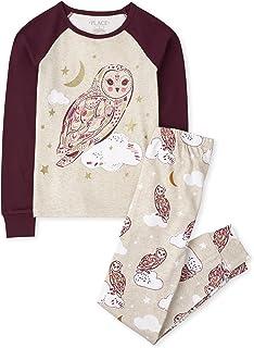 The Children's Place Girls Long Sleeve Owl Snug Fit Cotton Pajamas