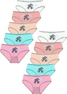 LOREZA ® Braguitas de algodón para niña - Material cómodo y Suave - con Diferentes Motivos - Disponibles en Tallas de 1 a ...
