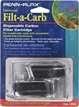 Penn-Plax Filt-a-Carb Replacement Activated Carbon Media Cartridges (2 Pack) – Universal Fit for Most Undergravel Filters – Provides Chemical Filtration