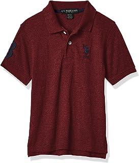 U.S. POLO ASSN. Boys' Little Short Sleeve Marled Pique Polo Shirt
