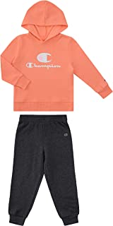 Champion Heritage Girls 2 (Two) Piece Fleece Hoodie Fleece Jogger Set Kids Clothes Toddler and Little Girls