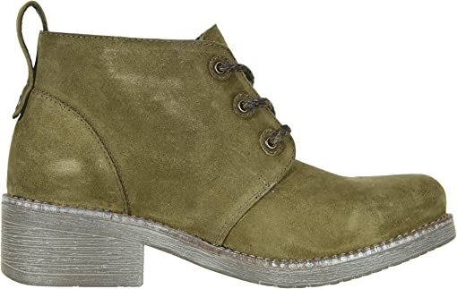 Oily Olive Suede/Vintage Pine Leather