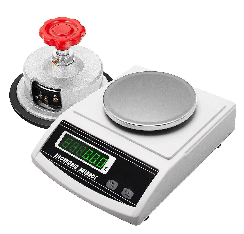 NEWTRY 300g/0.001g Balanza GSM Peso Precisión Electrónica Báscula Analítica Digital Con Un Cortador De Tela De Disco Muestreador Ajustable 0-2mm (300g/0.001g+ sampler)