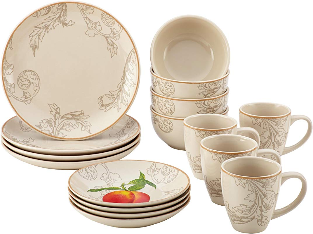 Paula Deen 58637 16 Piece Orchard Harvest Dinnerware Set Print