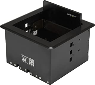 StarTech.com Conference Table Cable Management Box – Table Top – Conference Room AV – Conference Table Connectivity Box (BOX4CABLE)