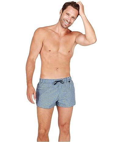HOM Preppy Beach Shorts (Navy/White) Men