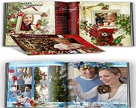 Digital Christmas Photo Book PSD Templates Classic & A Blue Christmas Backgrounds -