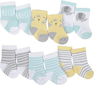 baby-boys 6-pair Wiggle Proof Sock
