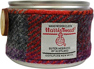 Created by the Ridleys Highland Heather Scented Harris Tweed Wrapped Soy Candle Tin