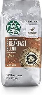 Starbucks Breakfast Blend Medium Roast Ground Coffee, 12 Ounce (Pack of 6)