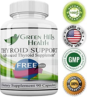 Thyroid Support Supplement Clinical Strength Boost Energy,Weight Loss, Improve Focus Vegan Friendly. High Potency Vitamins, Minerals and Herbs for Under-Active Thyroid. Best Thyroid Support Complex