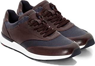 Lloyd Oxford Sneakers for Men I Mens Dress Shoes I Leather Fashion Shoes with Sneaker Bottom I Memory Foam, Breathable, lace up Brown/Blue