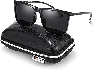Sponsored Ad - WISDICA Polarized Sunglasses for Men and Women Classic Square 100% UV Blocking Sun Glasses TR90