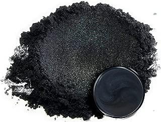 "Mica Powder Pigment ""Ninja Black"" (50g) Multipurpose DIY Arts and Crafts Additive | Woodworking, Natural Bath Bombs, Resin, Paint, Epoxy, Soap, Nail Polish, Lip Balm"