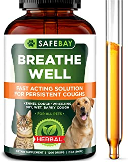 SafeBay Dog Supplement and Cat Supplement Premium Quality - 1200 Drops 2 Oz - Calendula for Dogs, Elderberry for Dogs and Cats Too! Made in USA - for Dry, Wet & Barky Pet Cough - Cruelty Free