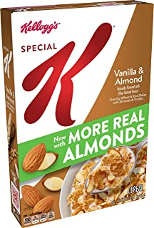 Kellogg's Special K, Breakfast Cereal, Vanilla and Almond, Made with Real Almonds, 12.9oz Box