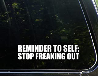 Sweet Tea Decals Reminder to Self: Stop Freaking Out - 8 3/4