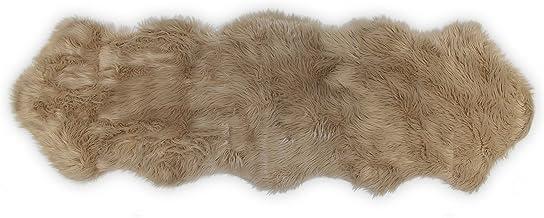 Nouvelle Legende Faux Fur Sheepskin Premium Rug Duo (23 in. X 73 in.) Tan