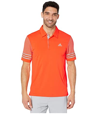 adidas Golf Ultimate Sleeve Gradient Polo (Hi-Res Coral) Men