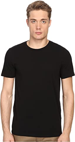 Vince - Short Sleeve Pima Cotton Crew Neck Shirt