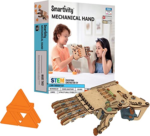 Smartivity Mechanical Hand STEM STEAM Educational DIY Building Construction Activity Toy Game Kit, Easy Instructions,...