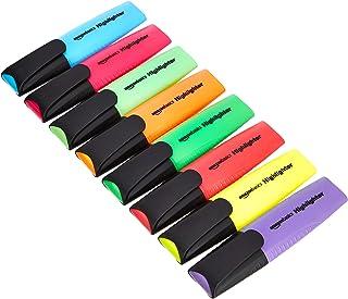AmazonBasics Lot de 8 surligneurs, assortiment de couleurs vives