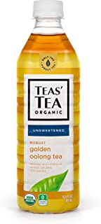 Teas' Tea Organic Iced Tea, Unsweetened Golden Oolong Tea, (Pack of 12), 17 Ounce Bottle