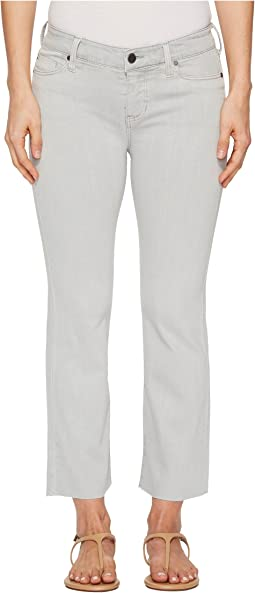 Liverpool Hannah Crop Flare in Slub Stretch Twill in Fossil