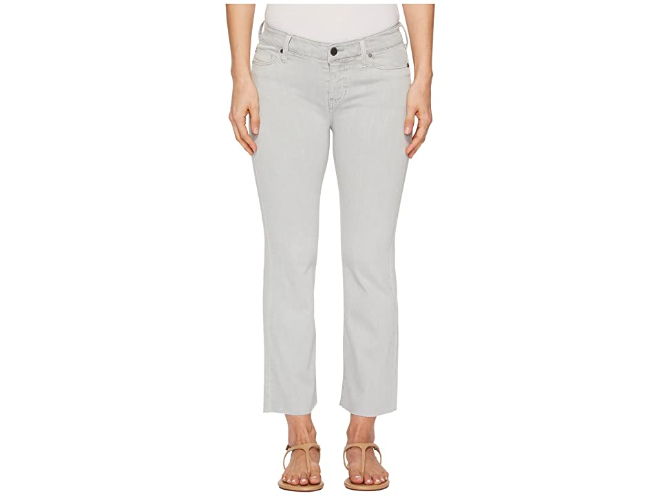 Liverpool Hannah Crop Flare in Slub Stretch Twill in Fossil (Fossil) Women