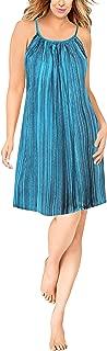 LA LEELA Women's Beach Dress Tunic Top T-Shirt Swing Dress Kaftan Hand Tie Dye B