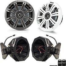 "$599 » Sponsored Ad - Kicker 1-Pair 45KM654 6.5"" Marine Speakers & SSV JJL-65U Compatible with Jeep 17-up 4-Door JL 6.5"" Cage Pods"