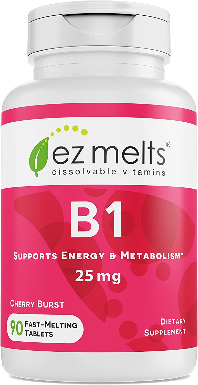EZ Animer and price Max 66% OFF revision Melts B1 as Thiamine 25 Support Immune Sublingual mg Vitam
