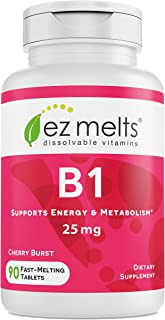 Sponsored Ad - EZ Melts B1 as Thiamine, 25 mg, Immune Support, Sublingual Vitamins, Vegan, Zero Sugar, Natural Cherry Flav...