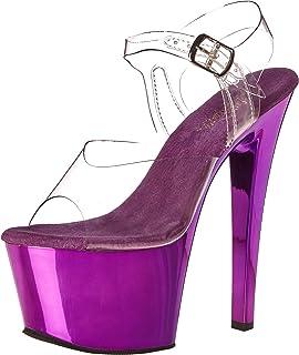 Pleaser Women's Sky308/c/ppch, Clear Purple, 7 M US
