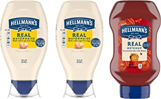 Hellmann's Real Mayonnaise and Ketchup, Squeeze, 20 oz, 3 Pack