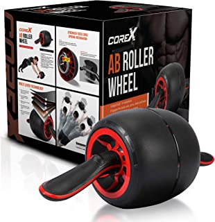 Core-X Ab Roller Wheel   Ultimate core Strength Training Exercise for Your ABS   Workout at Home Work or Gym   Tone Your Core Body Muscles with AB Trainer Equipment Roller/Carver   Bonus Knee Mat