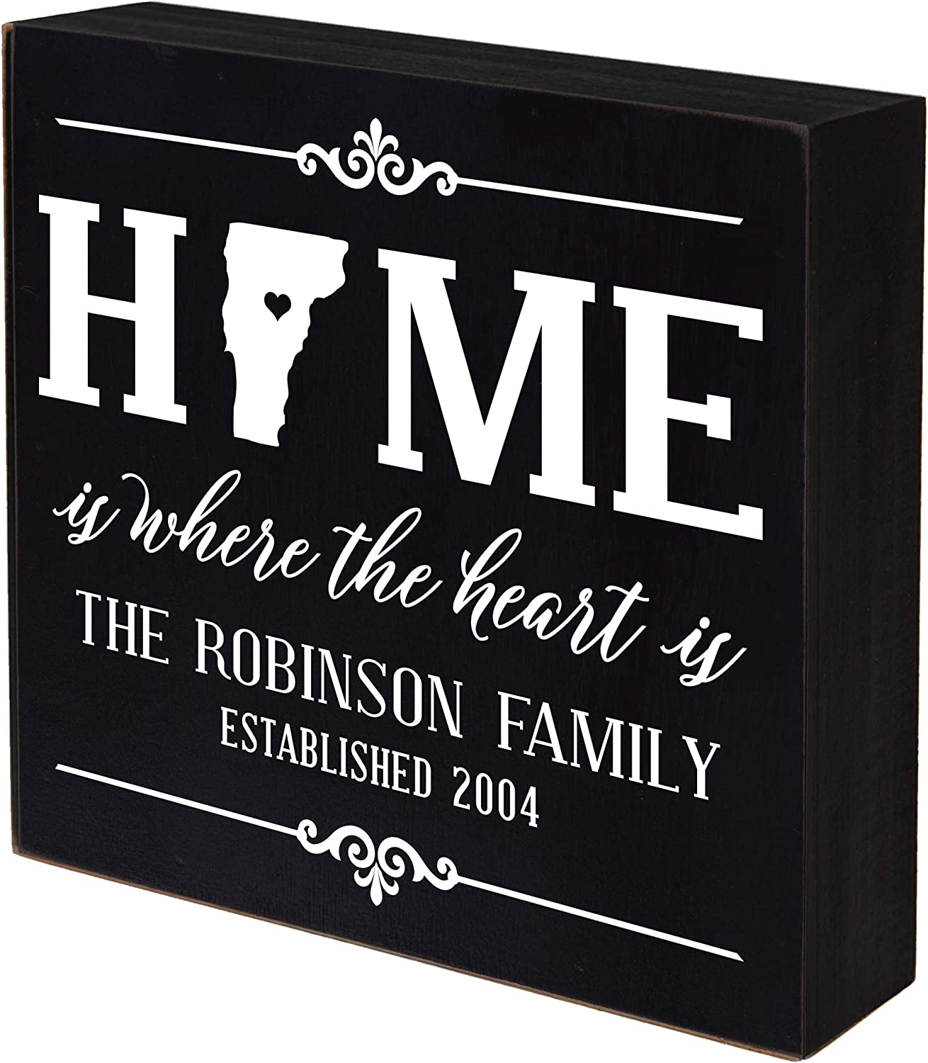 Fashion LifeSong Milestones Personalized Vermont Home Department store State Box Shadow H