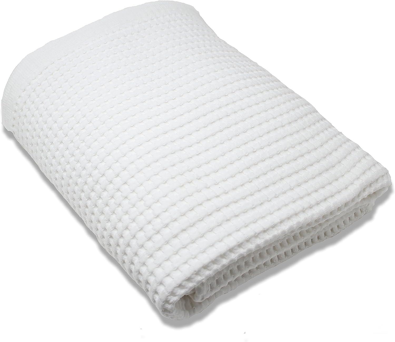Gilden Tree 100% Natural Cotton Lattice Waffle Weave Bath Towel (Midnight bluee)