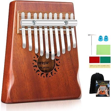 Red Metal Eectronic Kalimba Transducer Pickup Thumb Piano Piezo Pickup Finger Percussion Accessory
