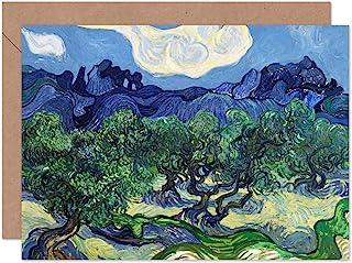 Vincent Van Gogh The Olivträd fin konst gratulationskort plus kuvert tomt inuti