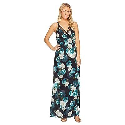 Adelyn Rae Jasmine Maxi Dress (Black/Peacock) Women
